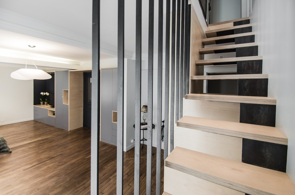escalier suspendue paris