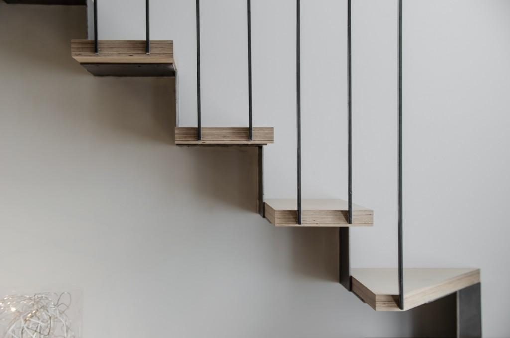 R habilitation appartement paris atelier mep - Escalier design bois metal ...