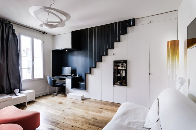 renovation appartement paris escalier design