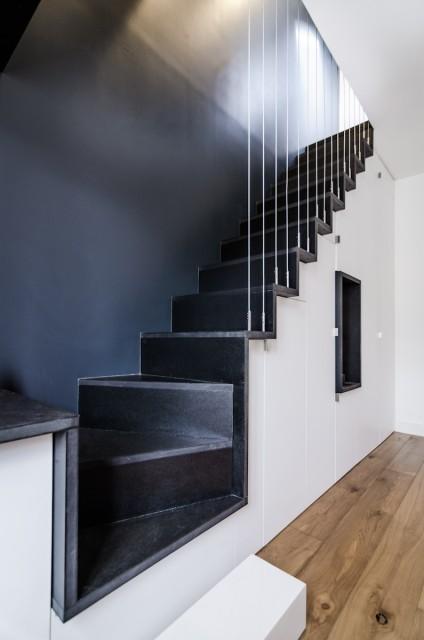 rénovation appartement paris escalier design sur mesure