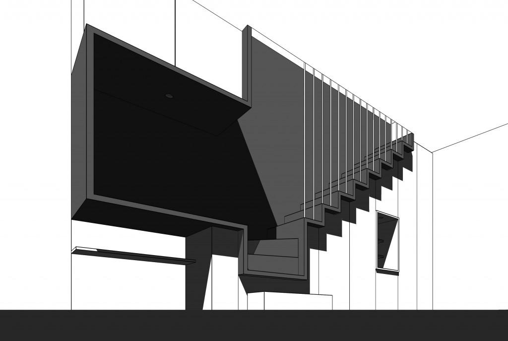 vue artistique escalier design