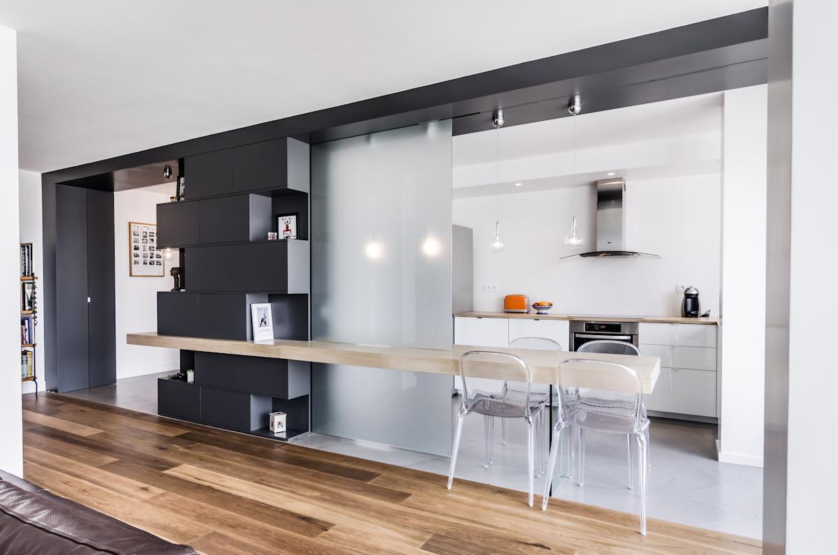 R novation d 39 un appartement boulogne 92100 atelier mep for Soluzioni per soggiorno