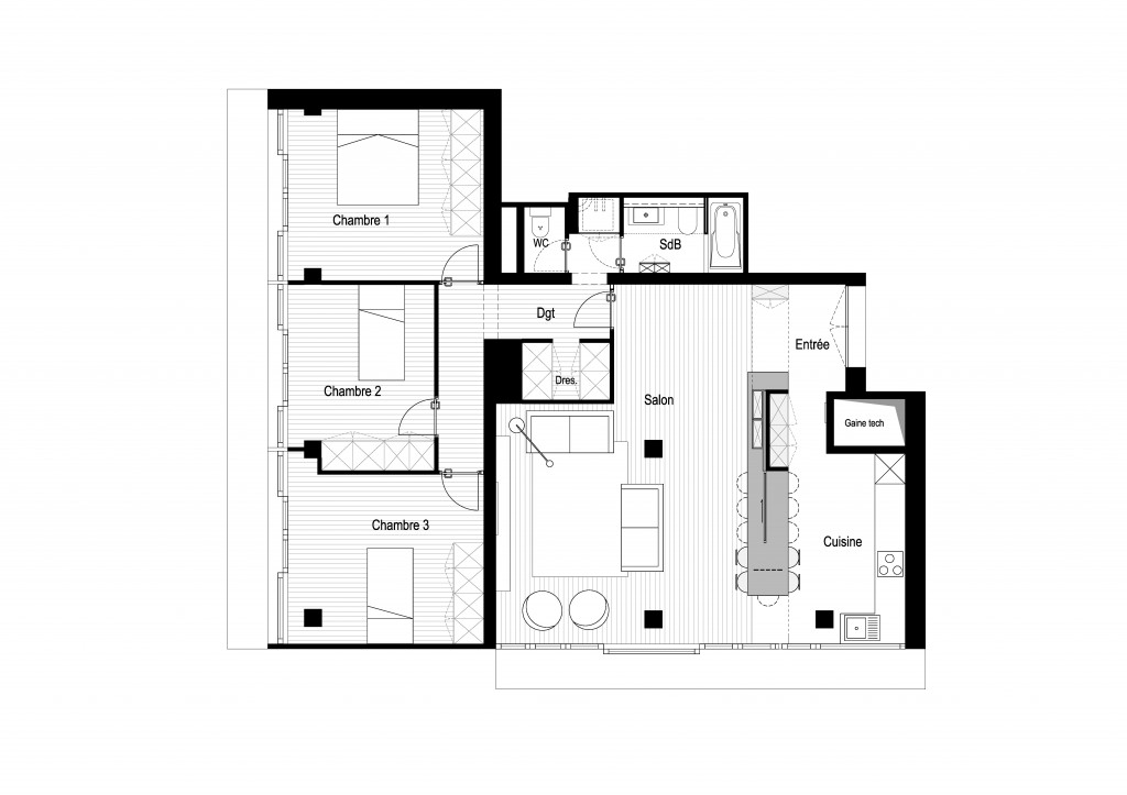 Plan architecte MEP Boulogne